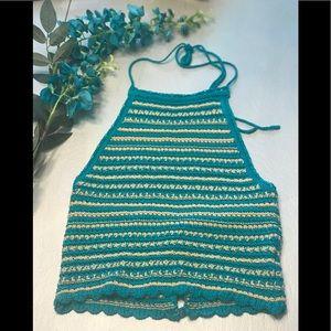 Urban Outfitters Millie Crochet Halter Tank - Med